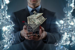 The man in house purchase mortgage concept Stock Images