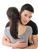 Man hug his girlfriend Stock Photography