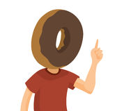 Man with huge donut head Stock Images