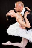 Man hugging beautiful ballerina Stock Image