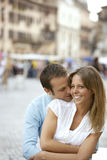 Man Hugging Girlfriend In Rome Stock Photography