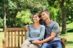 Man hugging his girlfriend Stock Photo