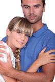 Man hugging his wife Royalty Free Stock Photos