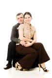 Man hugs a woman. Royalty Free Stock Photo