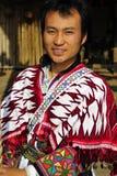 Man of the Hui (Muslim) Minority, China. Young man of the Hui (Muslim) ethnic  minority in traditional clothes at the Yunnan Nationalities Village, Kunming Royalty Free Stock Photography
