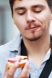 Man hungry Stock Photography