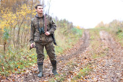 Man hunter outdoor in autumn hunting Stock Photography