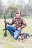 Man Hunting With Dog Stock Photos