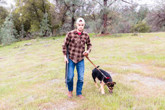 Man Hunting With Dog Royalty Free Stock Images