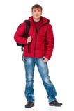Man, i att bekläda för vinter Royaltyfri Foto