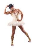 Man i ballerinakjol Royaltyfri Bild
