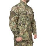 Man i den militära likformign, kamouflage royaltyfria foton