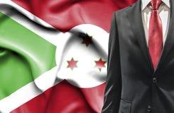 Man i dräkt från Burundi royaltyfria bilder