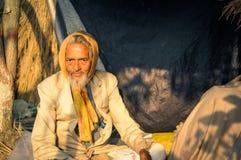 Man i dräkt i västra Bengal Arkivbilder