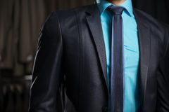 Man i elegant dräkt för affärsman Royaltyfri Bild