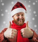 Man i en hatt Santa Claus Fotografering för Bildbyråer