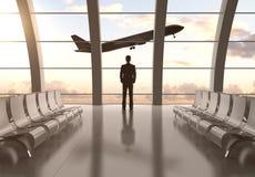 Man i flygplats Royaltyfri Bild