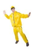 Man i gul dräkt Royaltyfria Foton