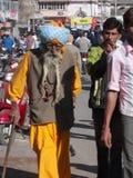 Man i Junagadh/Indien Arkivfoton