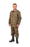 Man i kamouflage Royaltyfria Foton