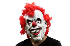 Man i läskig maskering Fotografering för Bildbyråer
