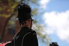 Man i marschmusikband royaltyfria foton