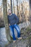 Man i skogen Royaltyfria Bilder