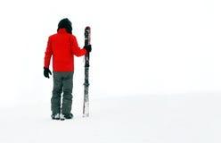 Man i snow Fotografering för Bildbyråer