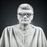 Man i svarta exponeringsglas Royaltyfri Fotografi