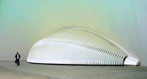 Man i vetenskapsmuseet Valencia Royaltyfria Bilder
