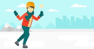 Man ice skating. Royalty Free Stock Image