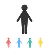 Man icon in different colors. Vector image Royalty Free Stock Photo