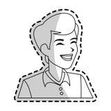 Man icon image. Happy androgynous  man icon image  illustration design Stock Images