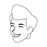 Man icon image. Happy androgynous  man icon image  illustration design Royalty Free Stock Photos