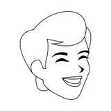 Man icon image. Happy androgynous  man icon image  illustration design Stock Image