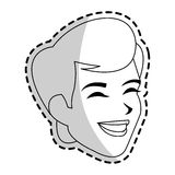Man icon image. Happy androgynous  man icon image  illustration design Stock Photography