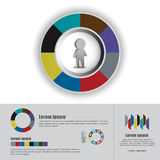 Man icon and infographics concept Royalty Free Stock Photos