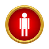 Man icon in simple style Stock Photography