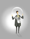 Man with idea. A great businessman with full of ideas Stock Illustration