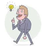 Man with an idea Royalty Free Stock Image