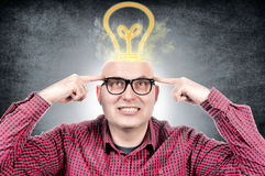 Man with idea Stock Photography