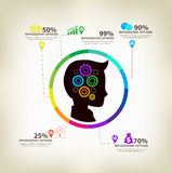 Man ideas infographic concept Royalty Free Stock Photo