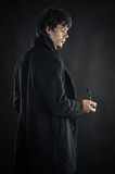 Man in the image of Sherlock Stock Images