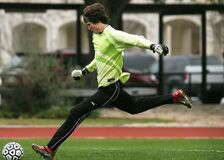 Free Man In Black Pants Playing Soccer During Daytime Stock Photography - 82931042