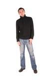 Man In Black Shirt Standing Stock Photo
