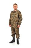Man In Camouflage Royalty Free Stock Photos