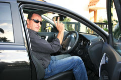 Man In Car Royalty Free Stock Photo