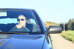 Free Man In Car Stock Photography - 46212552