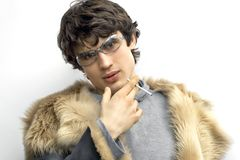 Man In Fur Royalty Free Stock Photography