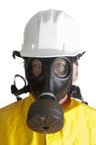 Man In Hazmat Outfit Stock Image